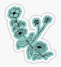 Floral Illustration - August Leo Virgo Flower Blossoms - MyDoodlesAteMe Sticker