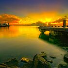 Sun rise at Eastern Beach by Ray Yang