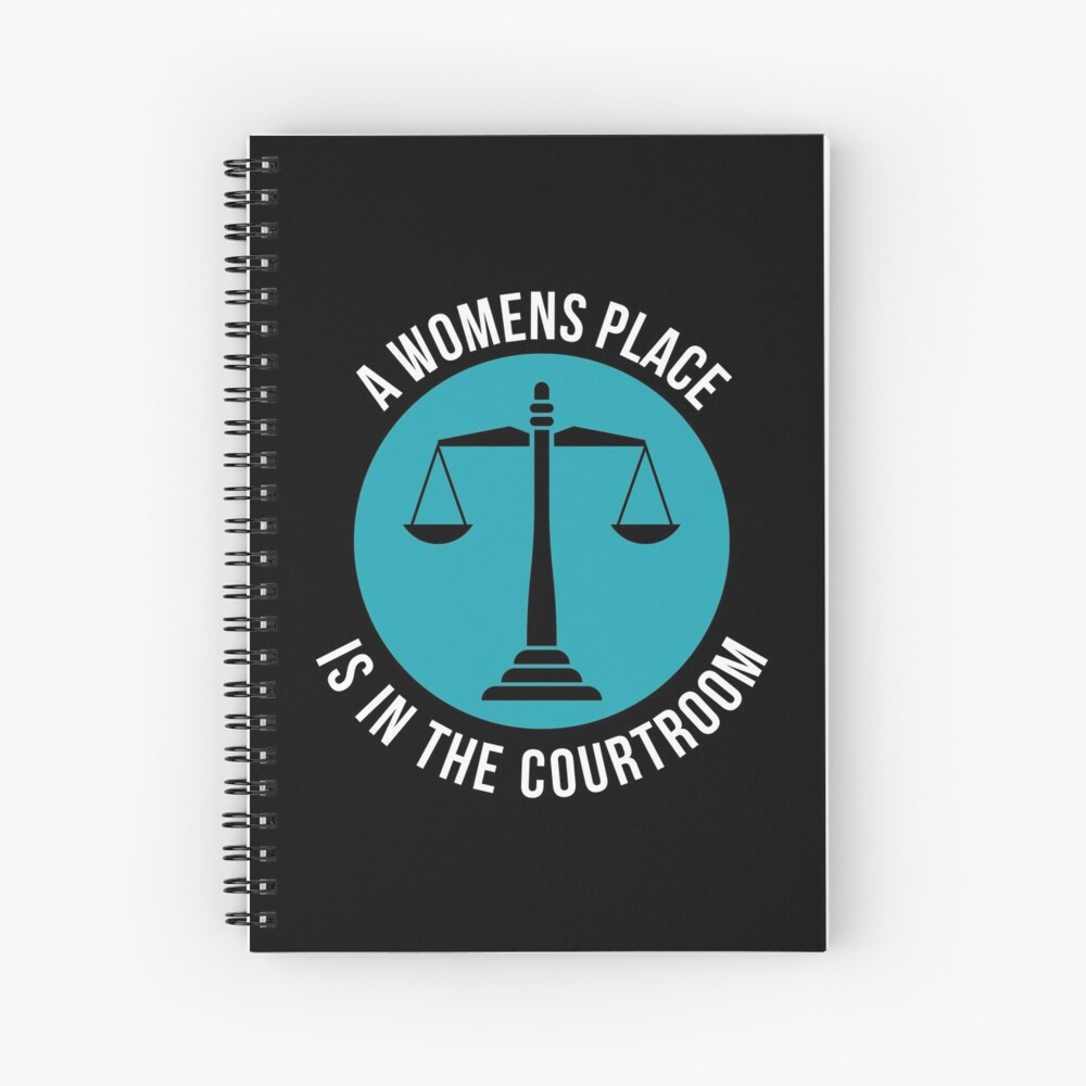 A Womans Place Is In The Courtroom Shirt Female Lawyer Gift Spiralblock