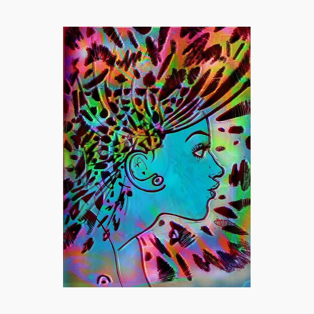 Psychedelic Goddess (Rainbow) Photographic Print