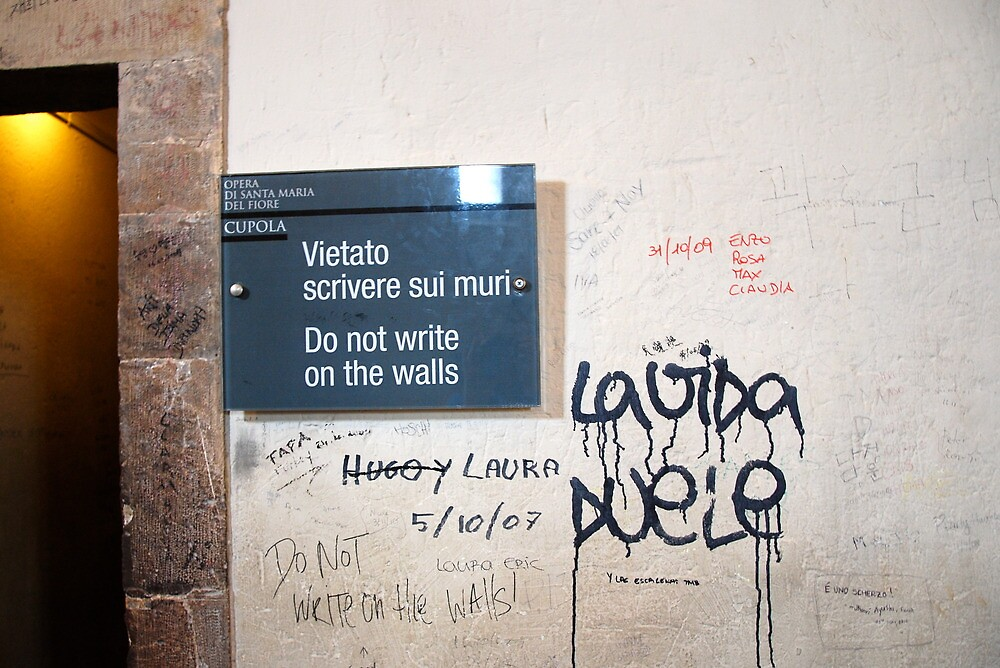 Do not write on the walls! by Annette Brown
