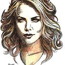 Drawing of  Charlize the movie star by tqueen