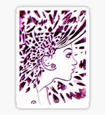 Psychedelic Goddess (Red+Blue) Sticker