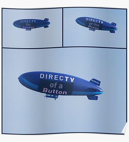 The Direct TV Blimp Poster