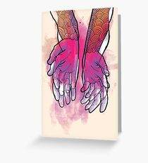 Dirty Hands Greeting Card