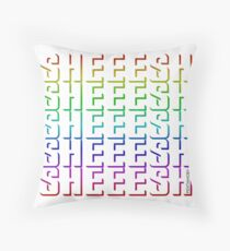 SHEEESH YOUTH WORD 2019 (colored) Throw Pillow