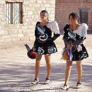 Lickanantay girls from Toconao. by Francisco Larrea