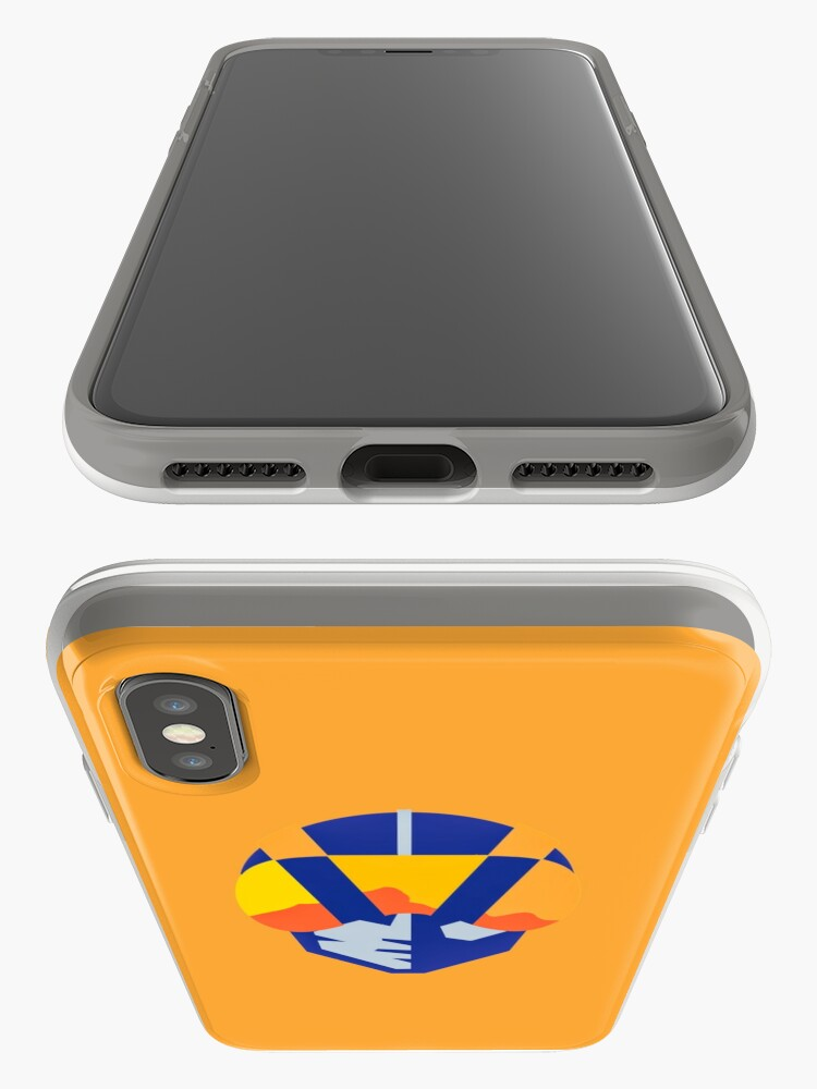 Alternate view of Blue Las Vegas aviators logo iPhone Cases & Covers