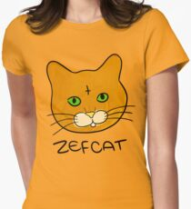 Zefcat (colour) Womens Fitted T-Shirt