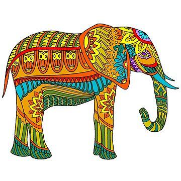 elefante mandala de stickersnstuff