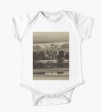 Seaton Delaval Hall in antiqued sepia One Piece - Short Sleeve