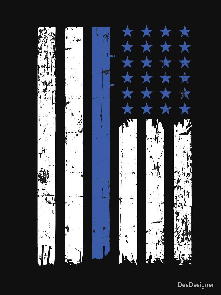 Thin blue line   Police USA flag deployment by DesDesigner
