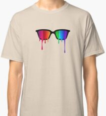 Love Wins! Rainbow - Spectrum (Pride) / Hipster Nerd Glasses Classic T-Shirt
