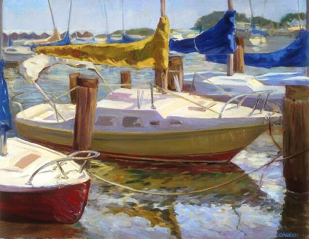 """""""Yellow Sails"""", 24 x 30 inches, oil on canvas by DaGradi"""