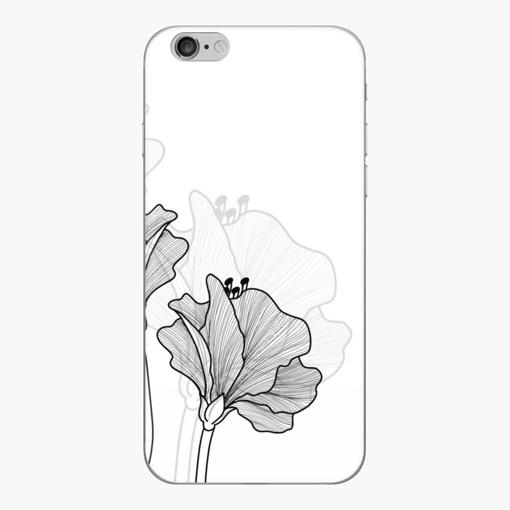 Blühender Hibiskus iPhone Klebefolie