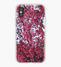Magical Cherry Blossoms - Dark Pink Floral Abstract Art - Springtime iPhone Case