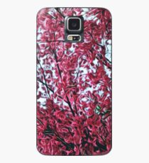 Magical Cherry Blossoms - Dark Pink Floral Abstract Art - Springtime Case/Skin for Samsung Galaxy