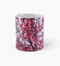 Magical Cherry Blossoms - Dark Pink Floral Abstract Art - Springtime Mug
