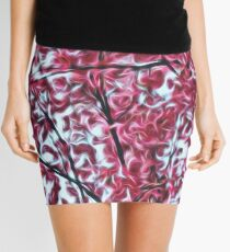 Magical Cherry Blossoms - Dark Pink Floral Abstract Art - Springtime Mini Skirt