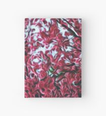Magical Cherry Blossoms - Dark Pink Floral Abstract Art - Springtime Hardcover Journal