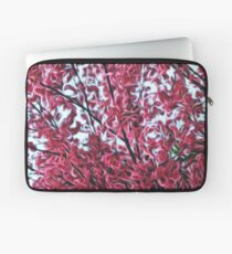 Magical Cherry Blossoms - Dark Pink Floral Abstract Art - Springtime Laptop Sleeve