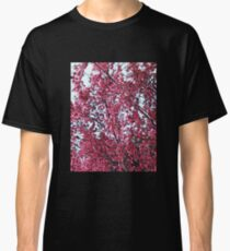 Magical Cherry Blossoms - Dark Pink Floral Abstract Art - Springtime Classic T-Shirt