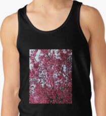 Magical Cherry Blossoms - Dark Pink Floral Abstract Art - Springtime Men's Tank Top