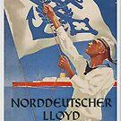 NDL...Norddeutscher Lloyd...vintage advertisement poster by edsimoneit