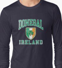 Donegal, Ireland with Shamrock Long Sleeve T-Shirt