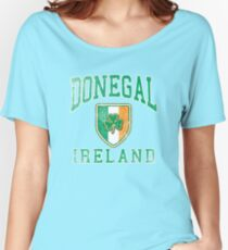 Donegal, Ireland with Shamrock Women's Relaxed Fit T-Shirt