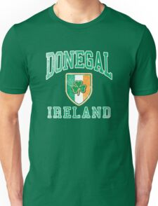 Donegal, Ireland with Shamrock Unisex T-Shirt