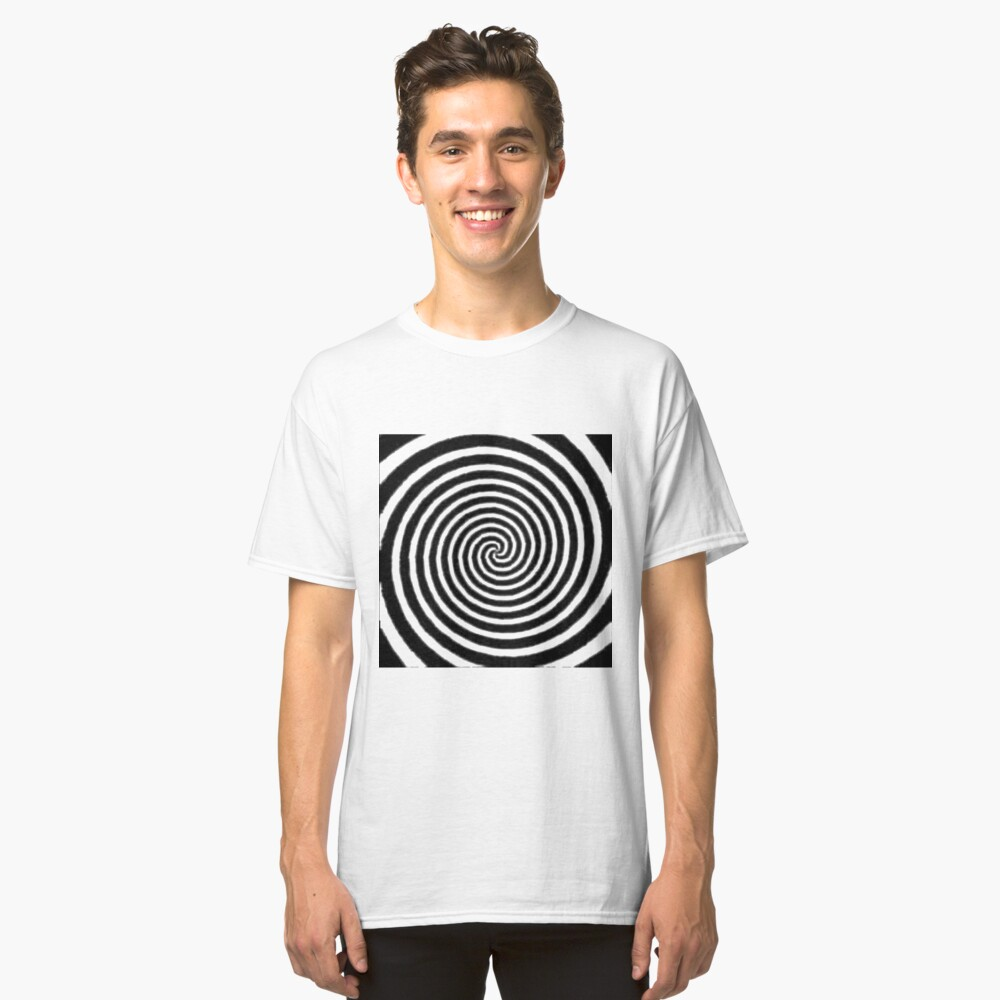 #Spiral #Target #Pattern #Hypnosis illusion vortex  striped circle  Classic T-Shirt