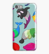 Sexuality Whales (And Aromanatee) Pattern iPhone Case/Skin