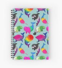 Sexuality Whales (And Aromanatee) Pattern Spiral Notebook