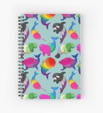 Cuaderno de espiral Patrón de Ballenas de Sexualidad (y Aromanato)