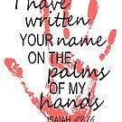 I Have Written Your Name On The Palms Of My Hands by RollingStore .