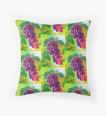 RETRO COMIC GRAPES Digital Art Design Print Floor Pillow