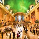Grand Central Rush     (digital painting) by Ray Warren
