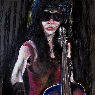 A New Sensation - painting of a female musician by TomConway
