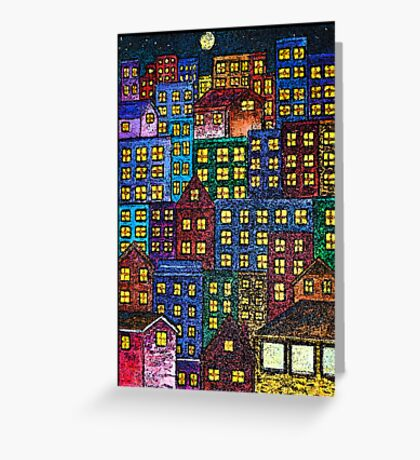 City Lights By Night Greeting Card