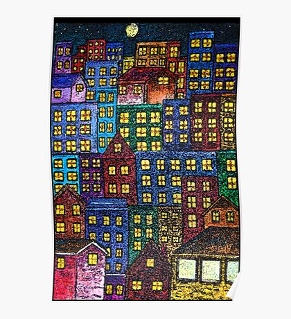 City Lights By Night Poster
