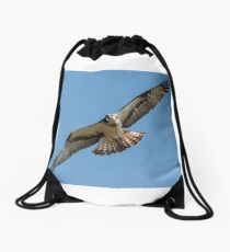 Osprey flying Drawstring Bag