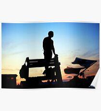 Sunset  Lifeguard Poster