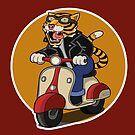 Tiger Scooter by pencilfury