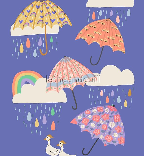 Spring Rain with Ducks by latheandquill