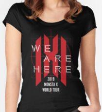 Monsta X - Wir sind hier World Tour Concert T-Shirt Tailliertes Rundhals-Shirt