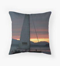 Trimmed Sails Throw Pillow