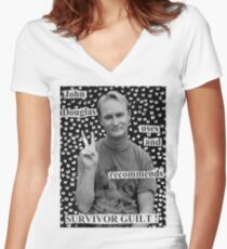 John Douglas Uses And Recommends Survivor Guilt (shirty) Women's Fitted V-Neck T-Shirt