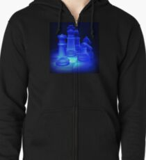Chess Pieces Zipped Hoodie