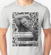 John Douglas Uses And Recommends Bar-B-Que Prawns (shirty) T-Shirt